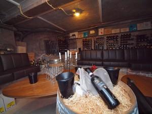 In de wijnkelder van Het Ambacht.