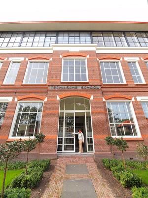 Het Ambacht is gehuisvest in een voormalige technische school in Heerenveen