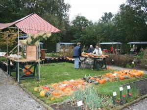 Markt in de Kloostertuin van De kruidhof.